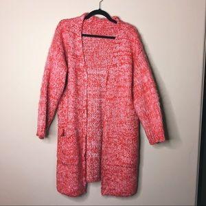 Pink Knit Cardigan Sweater Size M/L Ascot & Hart